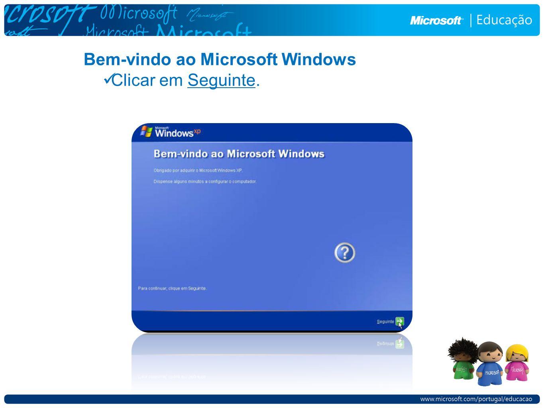 Bem-vindo ao Microsoft Windows