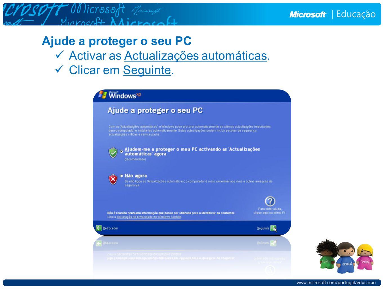 Ajude a proteger o seu PC
