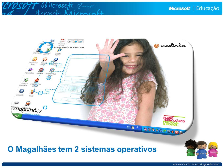 O Magalhães tem 2 sistemas operativos