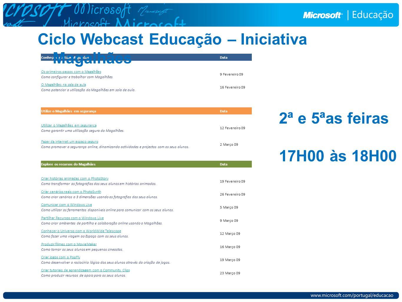 Ciclo Webcast Educação – Iniciativa Magalhães