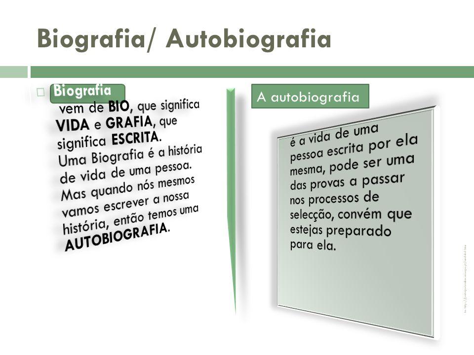 Biografia/ Autobiografia