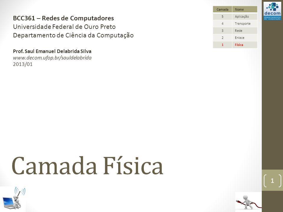 Camada Física BCC361 – Redes de Computadores