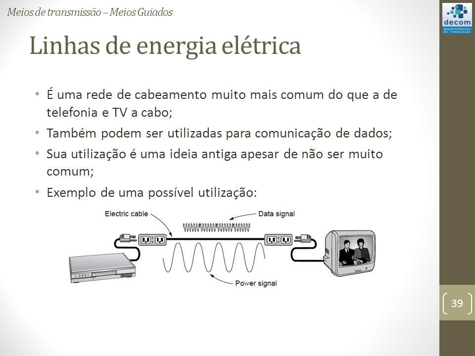 Linhas de energia elétrica