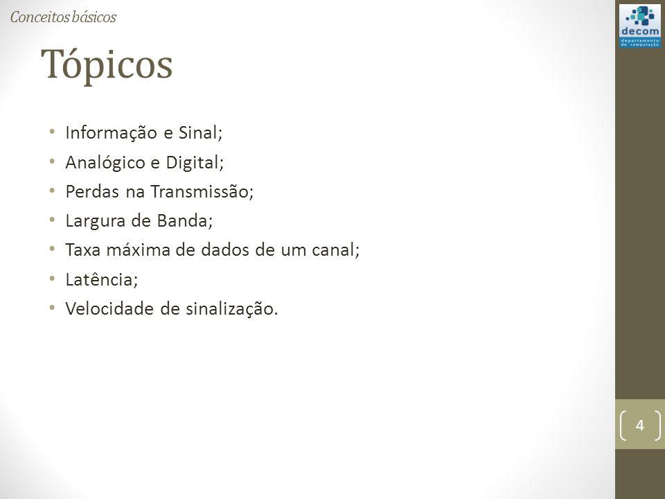 Tópicos Informação e Sinal; Analógico e Digital;
