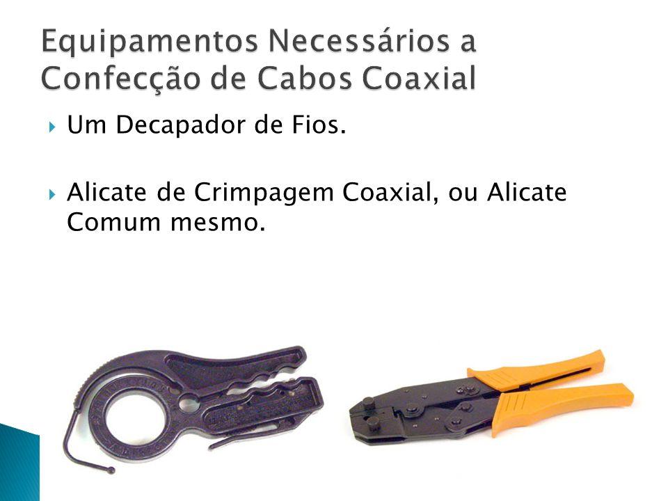 Equipamentos Necessários a Confecção de Cabos Coaxial