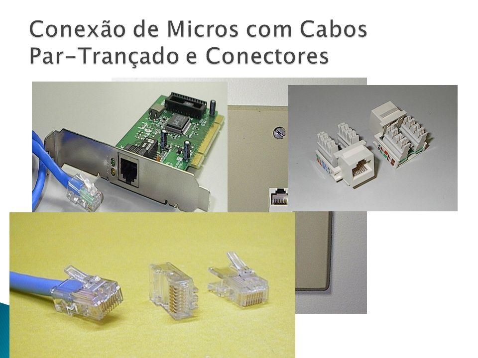 Conexão de Micros com Cabos Par-Trançado e Conectores