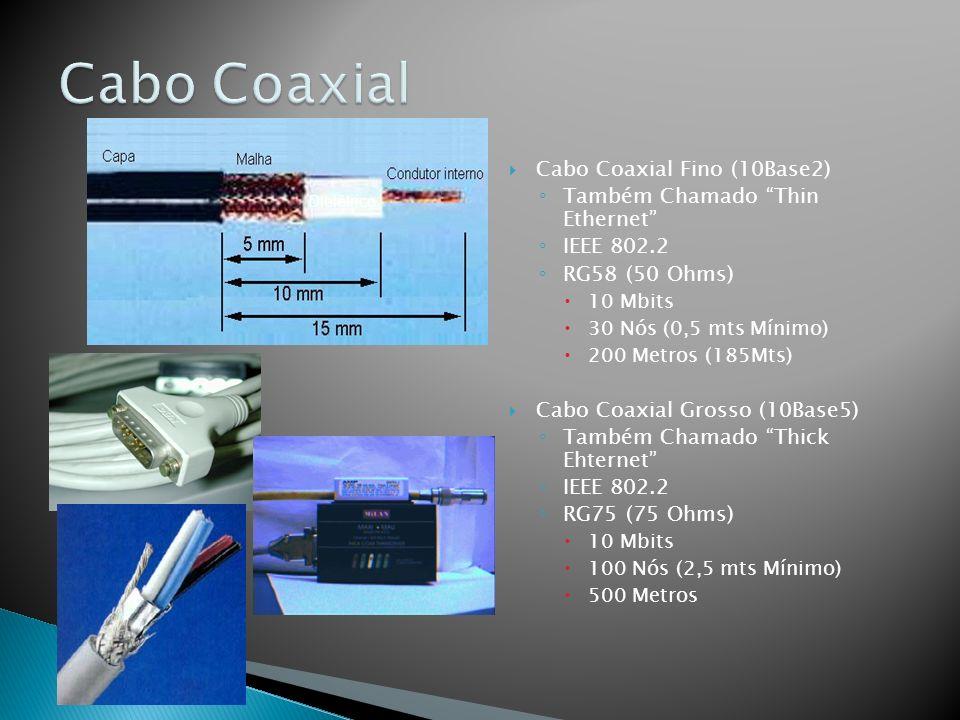 Cabo Coaxial Cabo Coaxial Fino (10Base2)