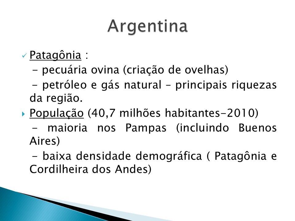 Argentina Patagônia : - pecuária ovina (criação de ovelhas)