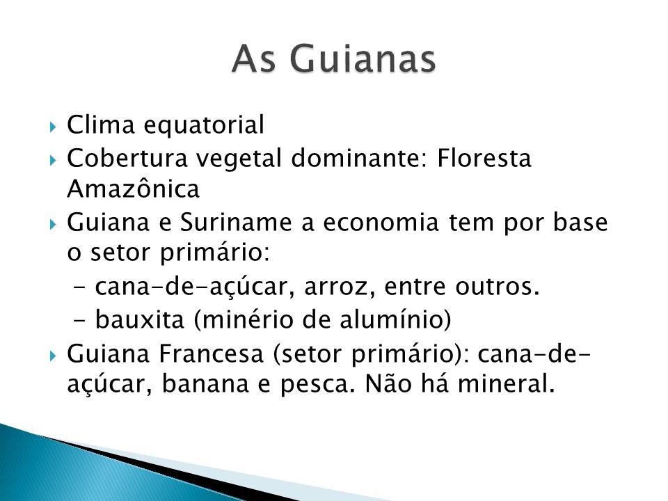 As Guianas Clima equatorial
