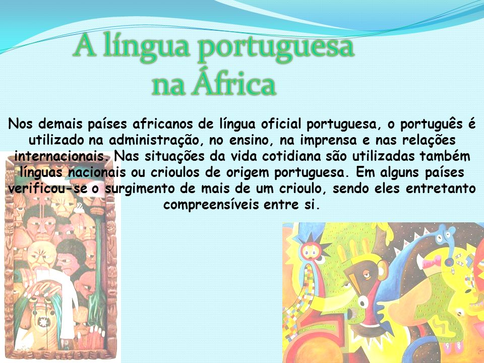A língua portuguesa na África