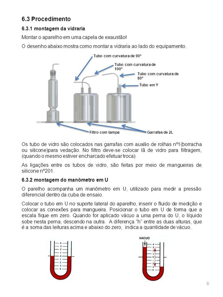 6.3 Procedimento 6.3.1 montagem da vidraria
