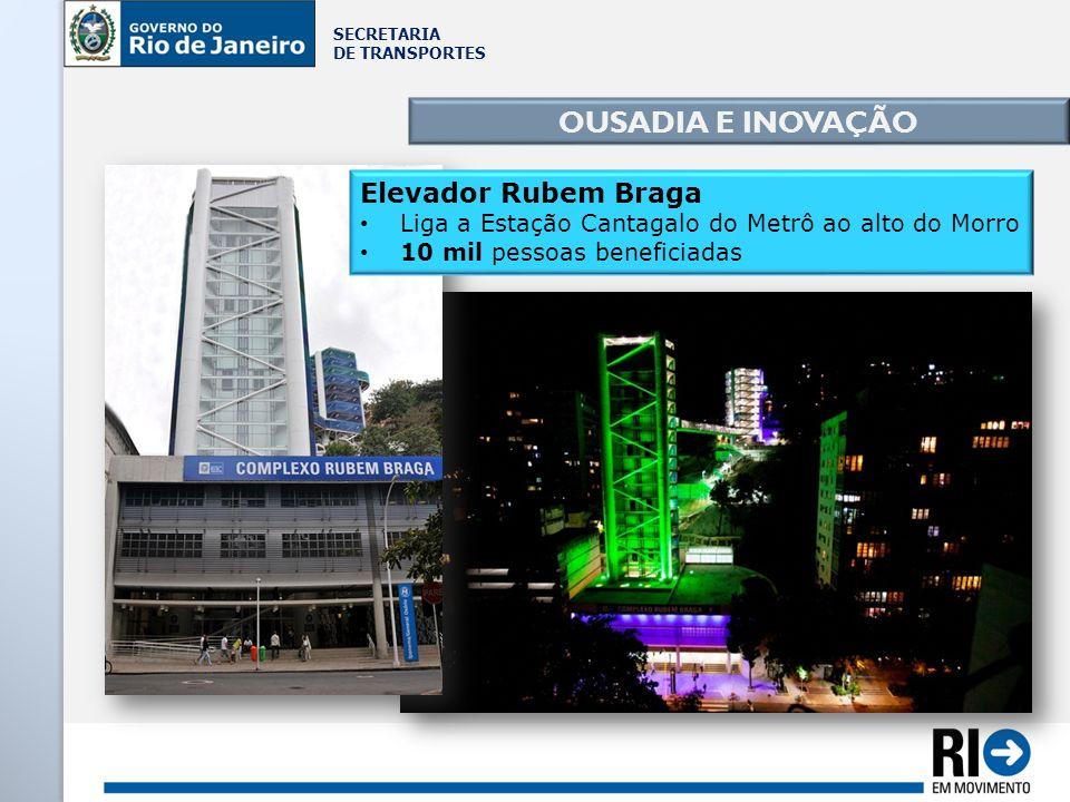 OUSADIA E INOVAÇÃO Elevador Rubem Braga