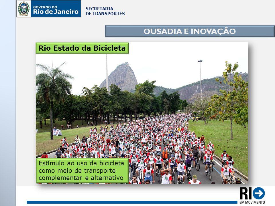 OUSADIA E INOVAÇÃO Rio Estado da Bicicleta