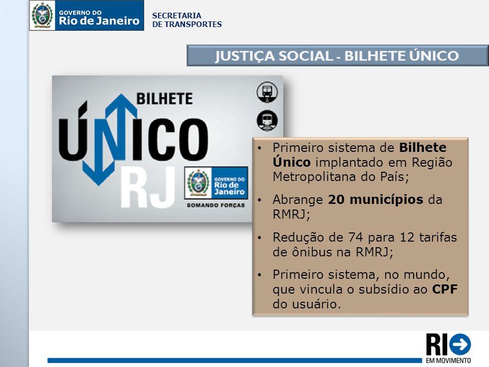 JUSTIÇA SOCIAL - BILHETE ÚNICO
