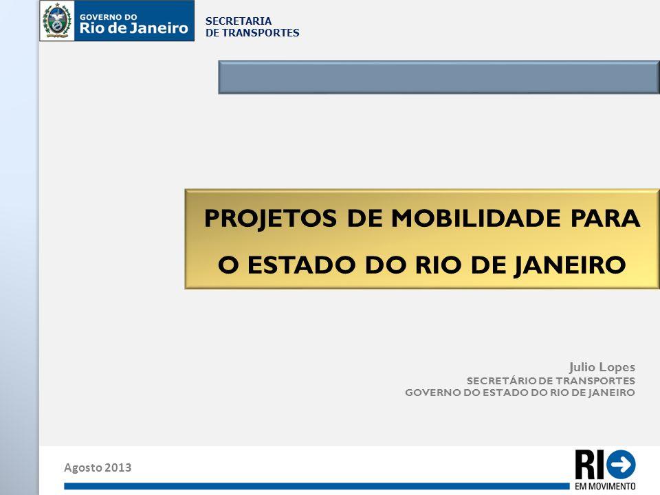 PROJETOS DE MOBILIDADE PARA O ESTADO DO RIO DE JANEIRO