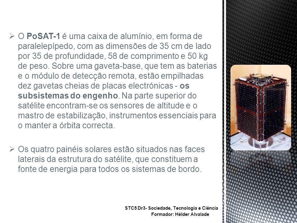 O PoSAT-1 é uma caixa de alumínio, em forma de paralelepípedo, com as dimensões de 35 cm de lado por 35 de profundidade, 58 de comprimento e 50 kg de peso. Sobre uma gaveta-base, que tem as baterias e o módulo de detecção remota, estão empilhadas dez gavetas cheias de placas electrónicas - os subsistemas do engenho. Na parte superior do satélite encontram-se os sensores de altitude e o mastro de estabilização, instrumentos essenciais para o manter a órbita correcta.