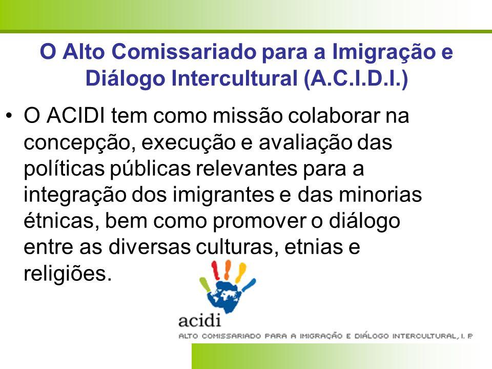 O Alto Comissariado para a Imigração e Diálogo Intercultural (A. C. I