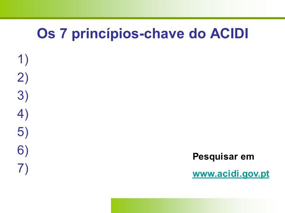 Os 7 princípios-chave do ACIDI
