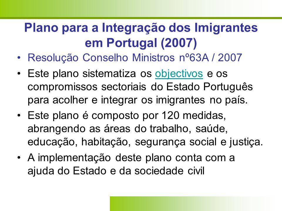 Plano para a Integração dos Imigrantes em Portugal (2007)