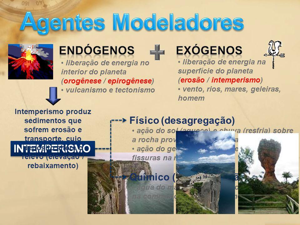 Agentes Modeladores Endógenos Exógenos Físico (desagregação)