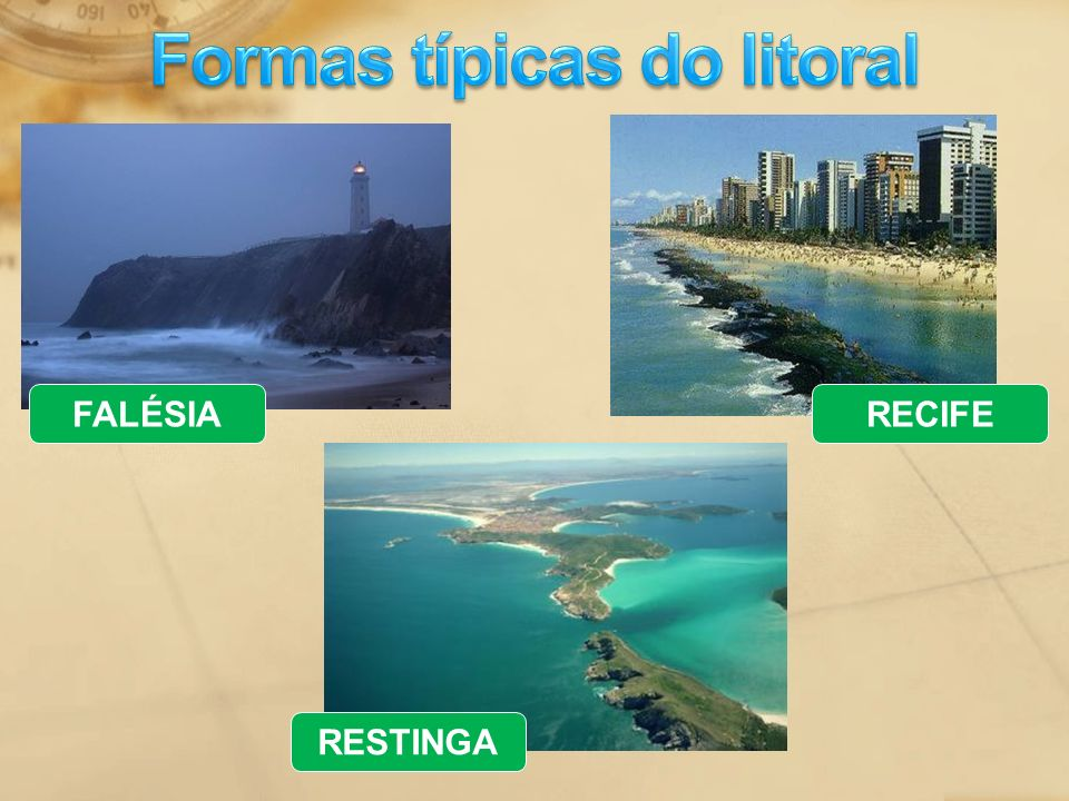 Formas típicas do litoral