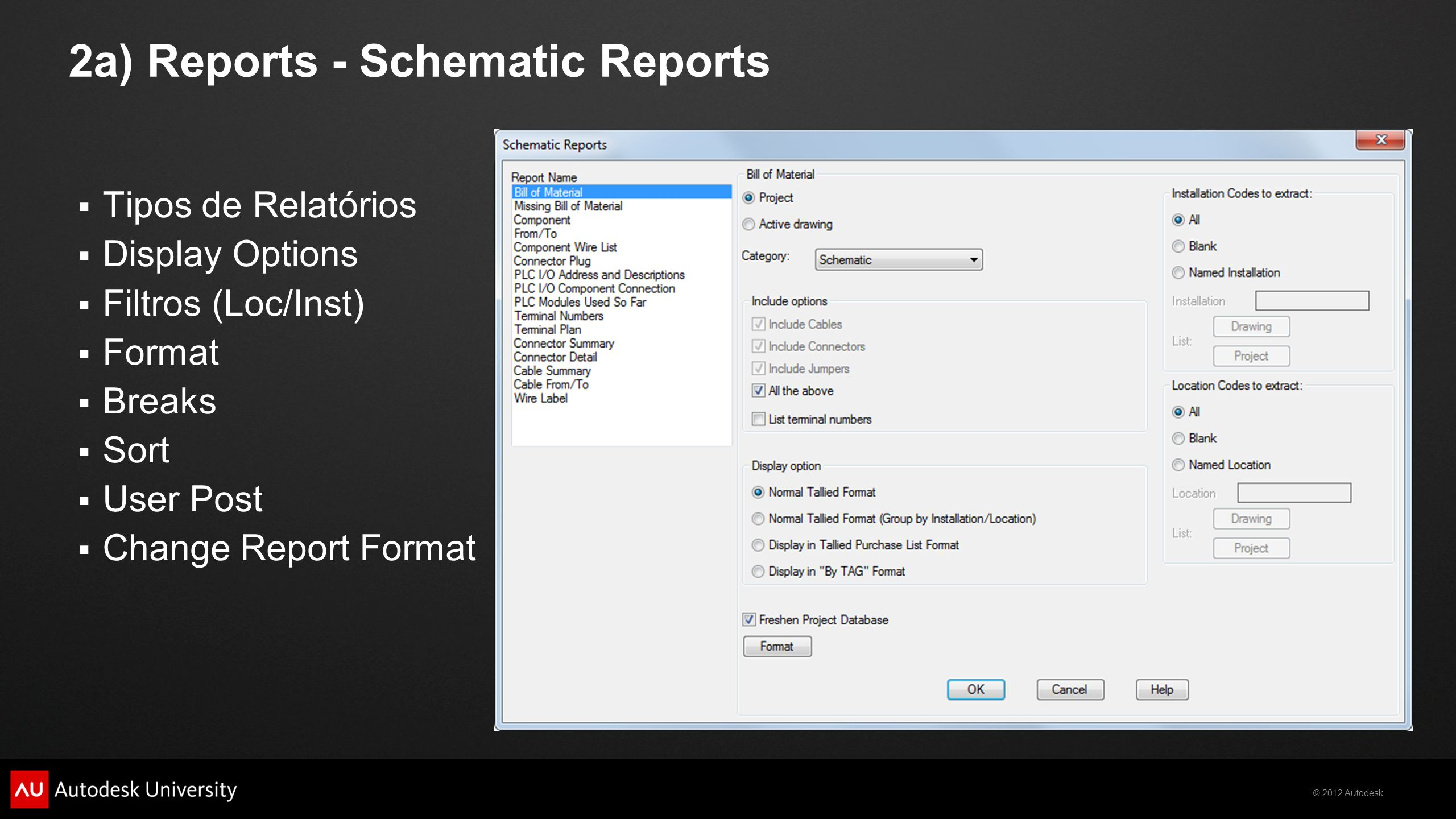 2a) Reports - Schematic Reports