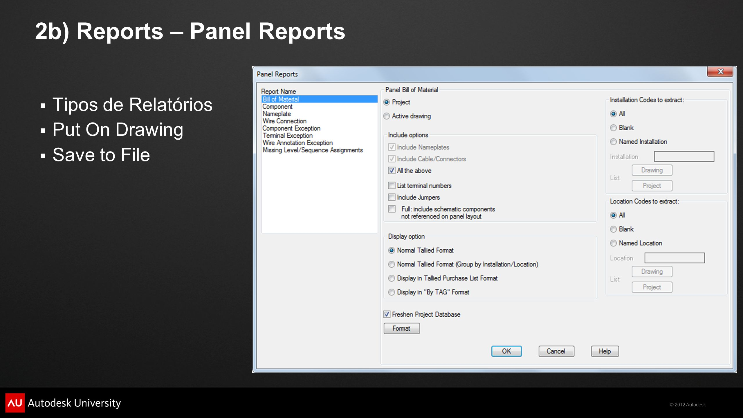 2b) Reports – Panel Reports