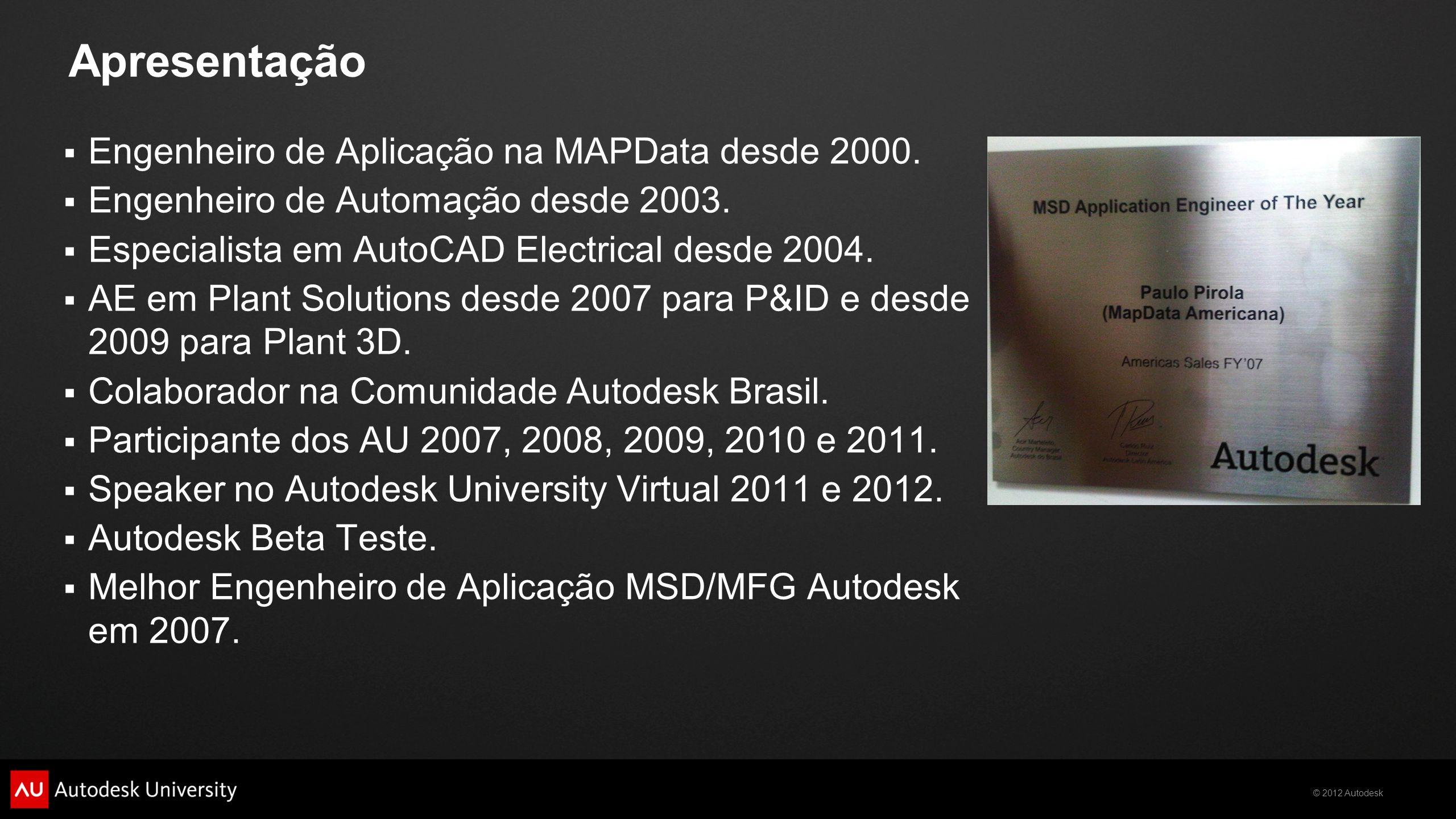 Apresentação Engenheiro de Aplicação na MAPData desde 2000.