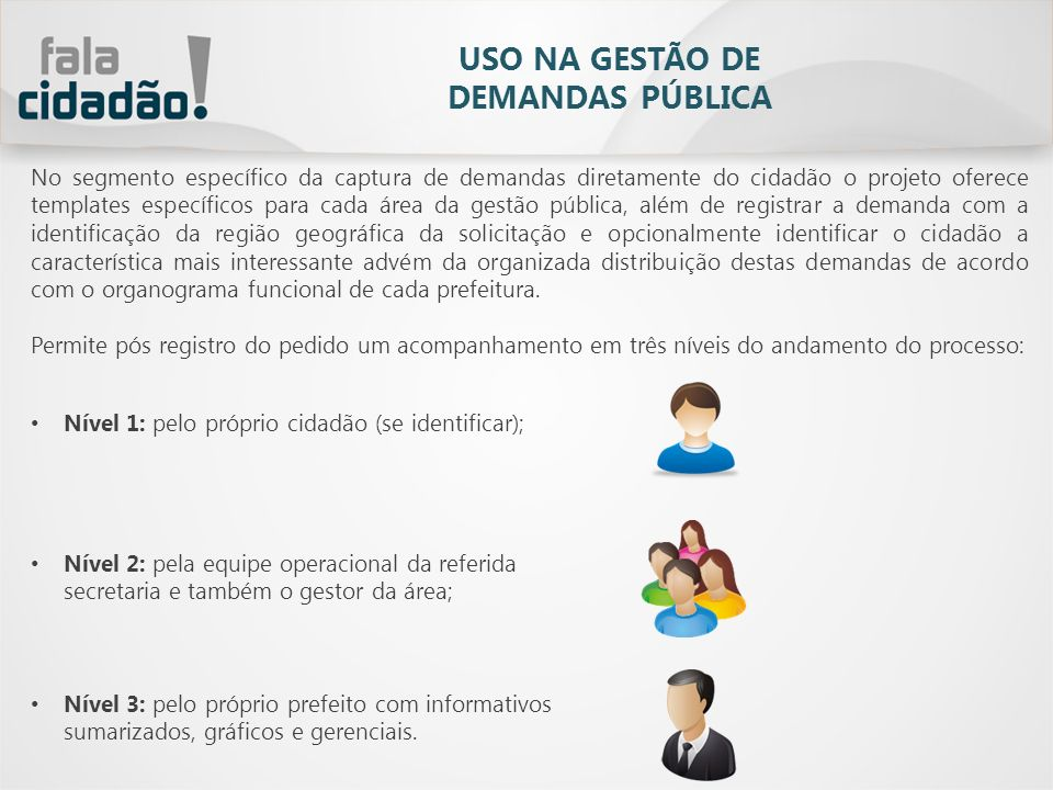 USO NA GESTÃO DE DEMANDAS PÚBLICA