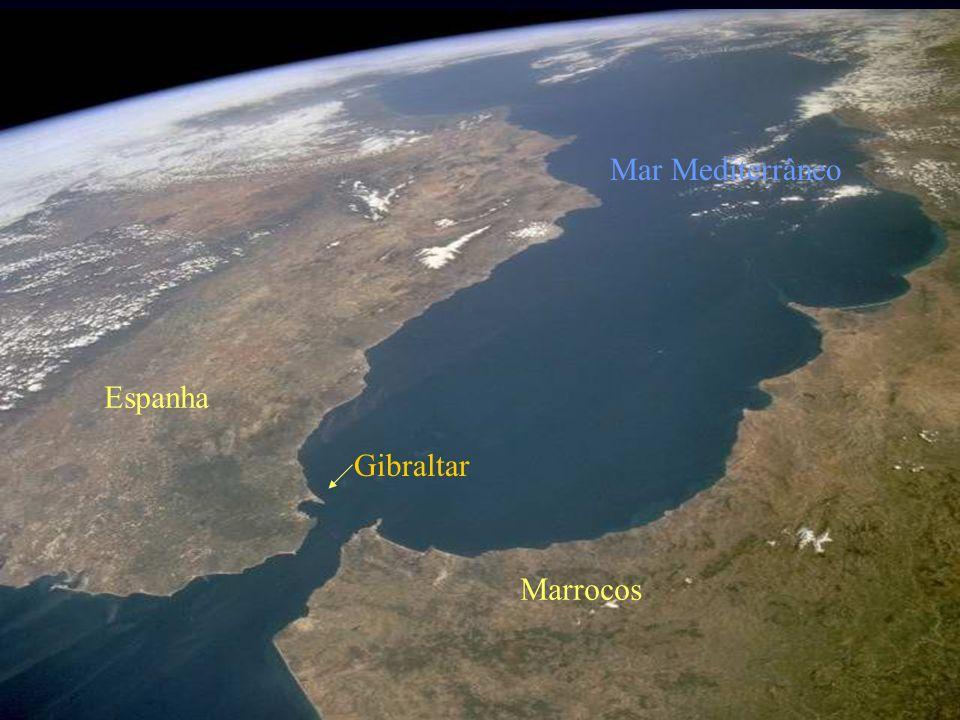 Mar Mediterrâneo Espanha Gibraltar Marrocos