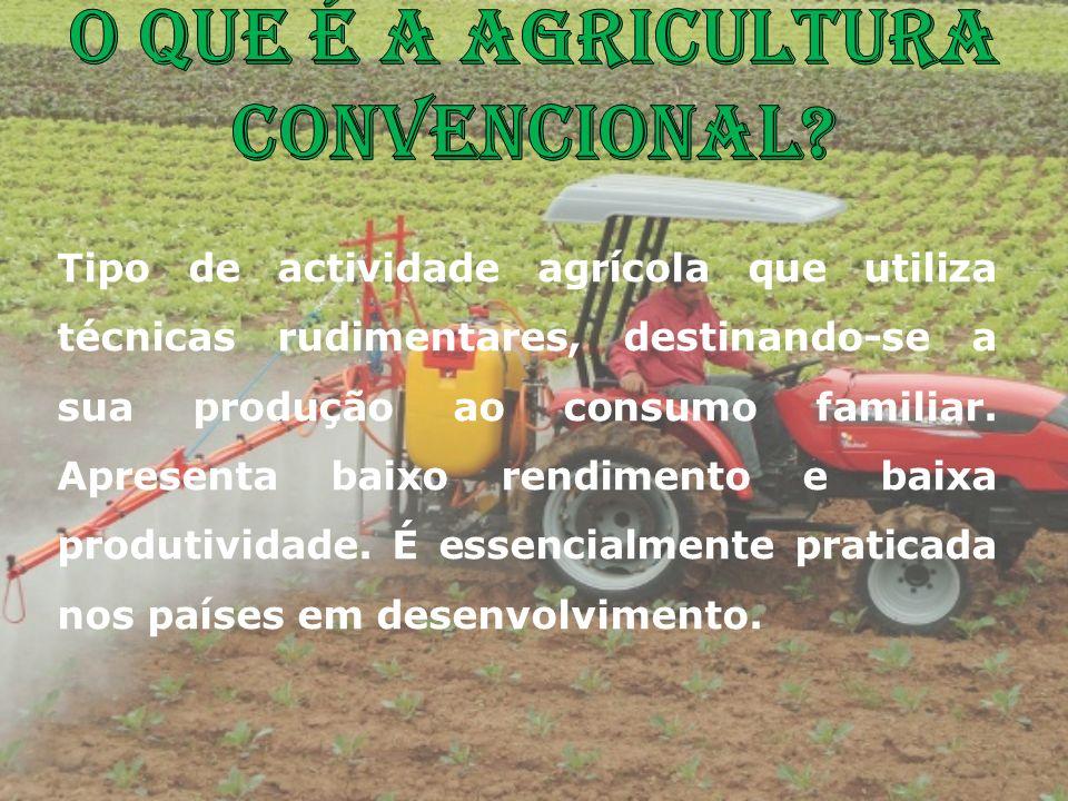 O que é a agricultura Convencional