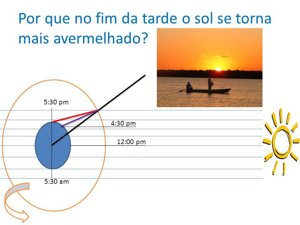 Por que no fim da tarde o sol se torna mais avermelhado