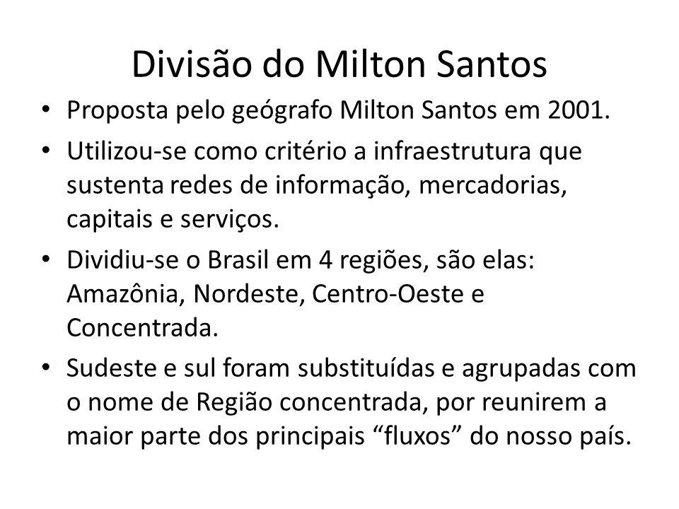 Divisão do Milton Santos
