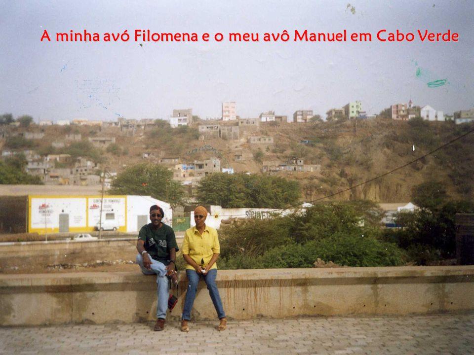 A minha avó Filomena e o meu avô Manuel em Cabo Verde