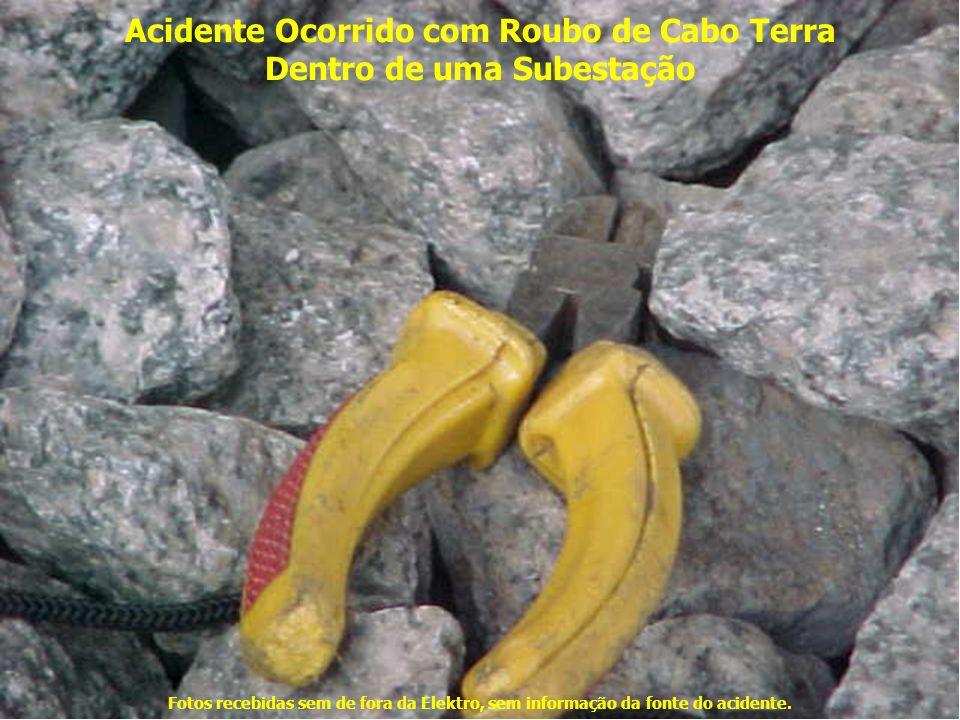 Acidente Ocorrido com Roubo de Cabo Terra Dentro de uma Subestação