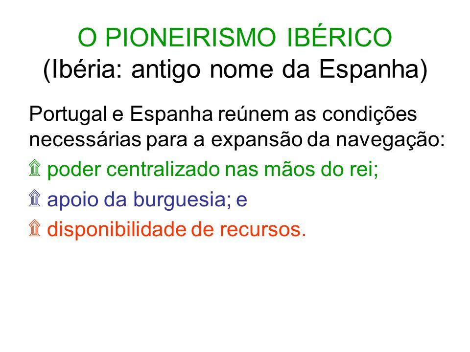 O PIONEIRISMO IBÉRICO (Ibéria: antigo nome da Espanha)