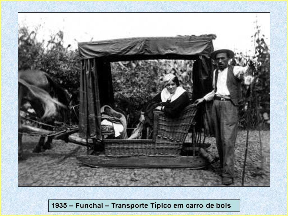 1935 – Funchal – Transporte Típico em carro de bois