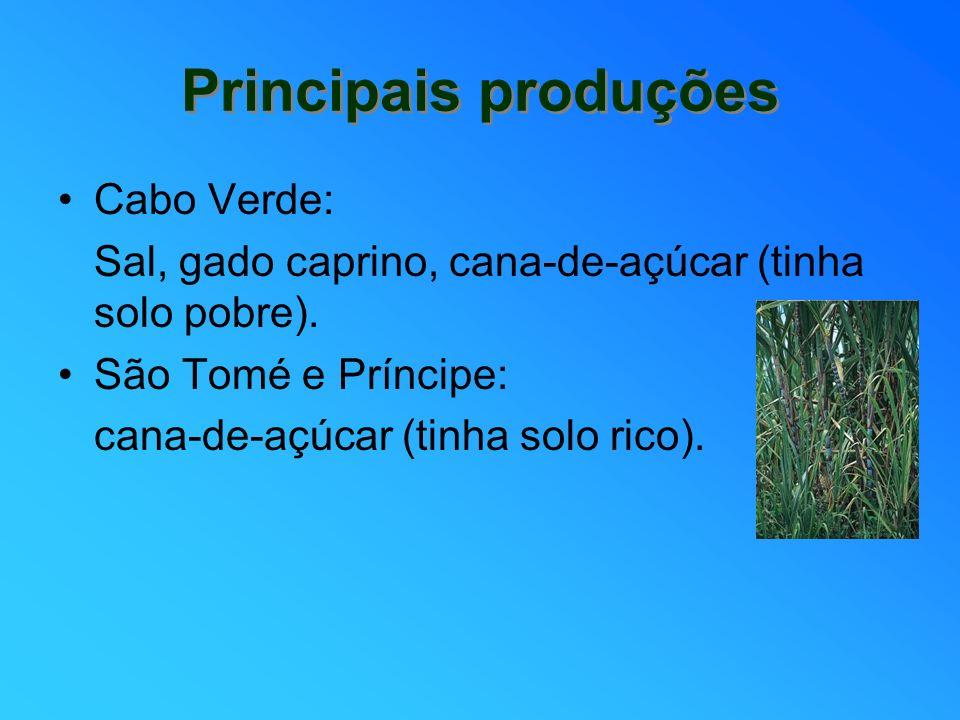 Principais produções Cabo Verde: