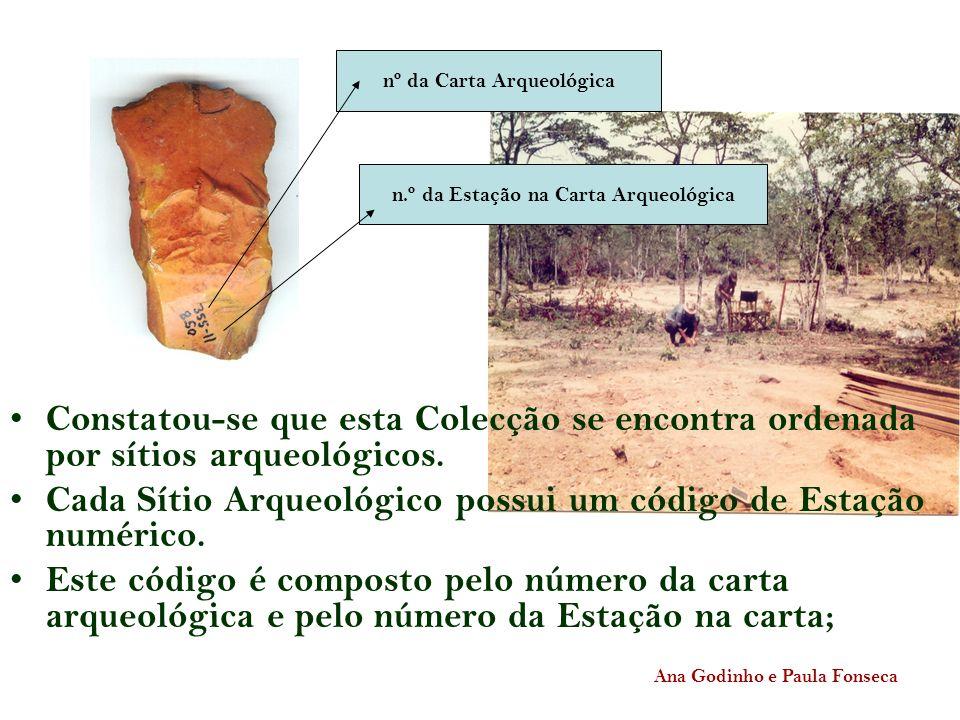 Cada Sítio Arqueológico possui um código de Estação numérico.