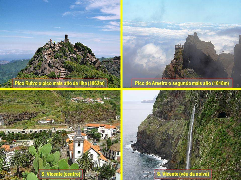Pico do Areeiro o segundo mais alto (1818m)
