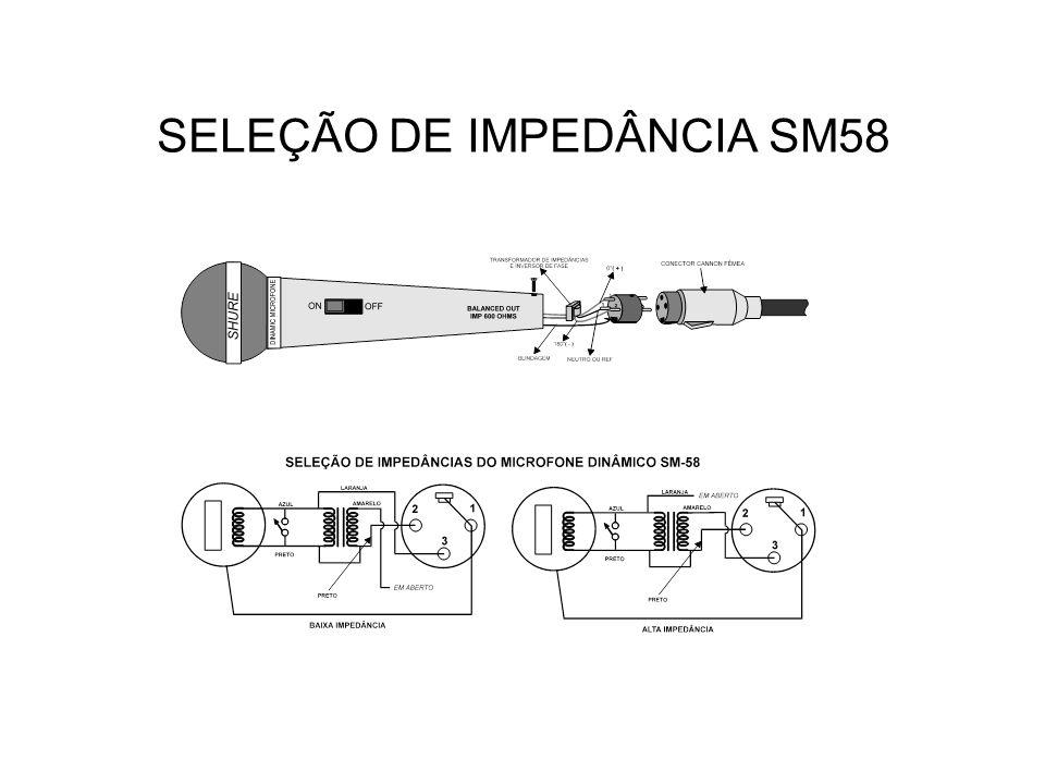 SELEÇÃO DE IMPEDÂNCIA SM58