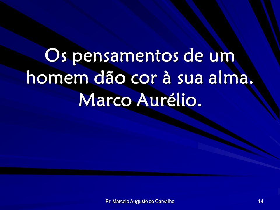 Os pensamentos de um homem dão cor à sua alma. Marco Aurélio.