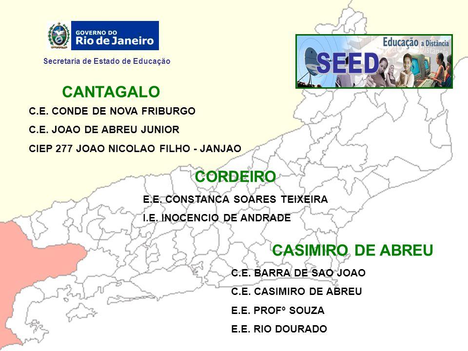 SEED CANTAGALO CORDEIRO CASIMIRO DE ABREU