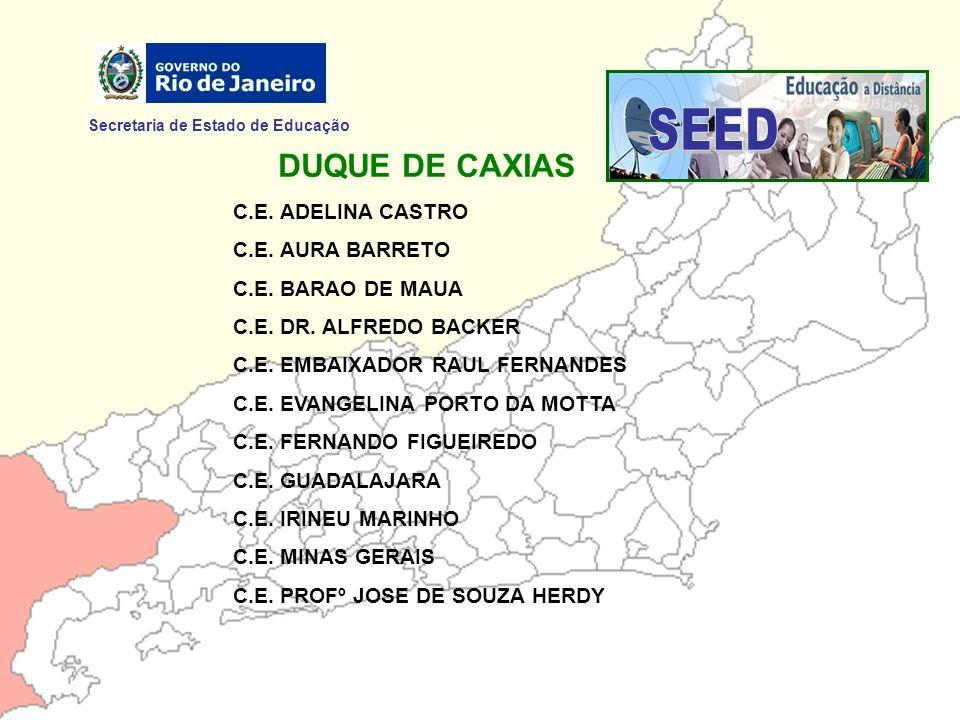 SEED DUQUE DE CAXIAS Secretaria de Estado de Educação