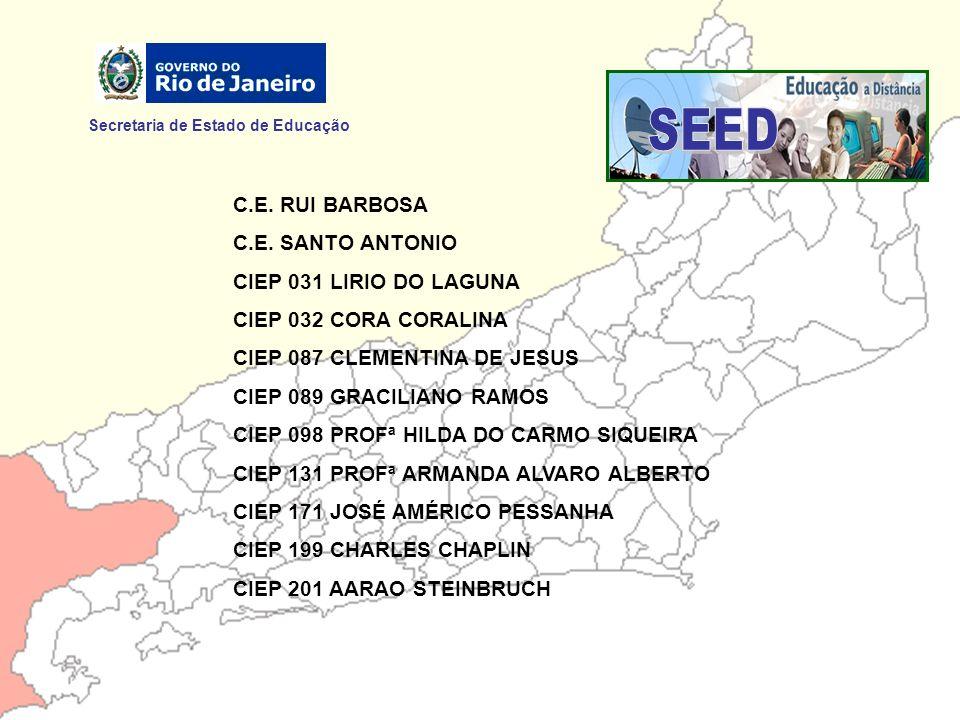 SEED Secretaria de Estado de Educação C.E. RUI BARBOSA