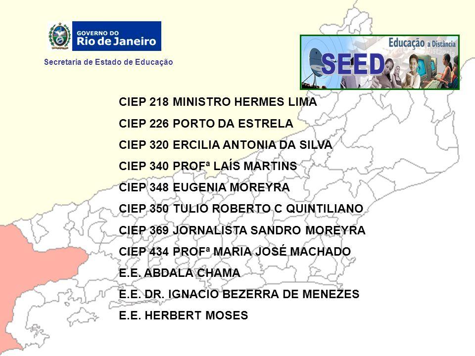 SEED Secretaria de Estado de Educação CIEP 218 MINISTRO HERMES LIMA