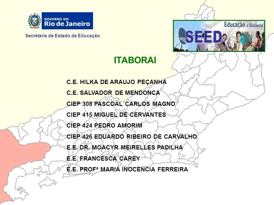 SEED ITABORAI Secretaria de Estado de Educação