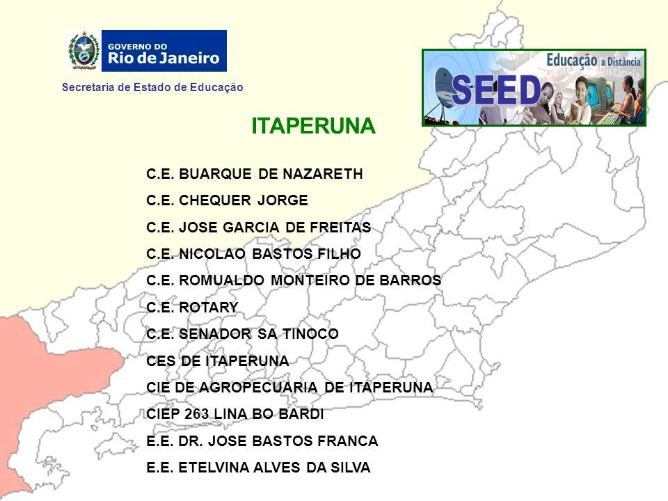 SEED ITAPERUNA Secretaria de Estado de Educação