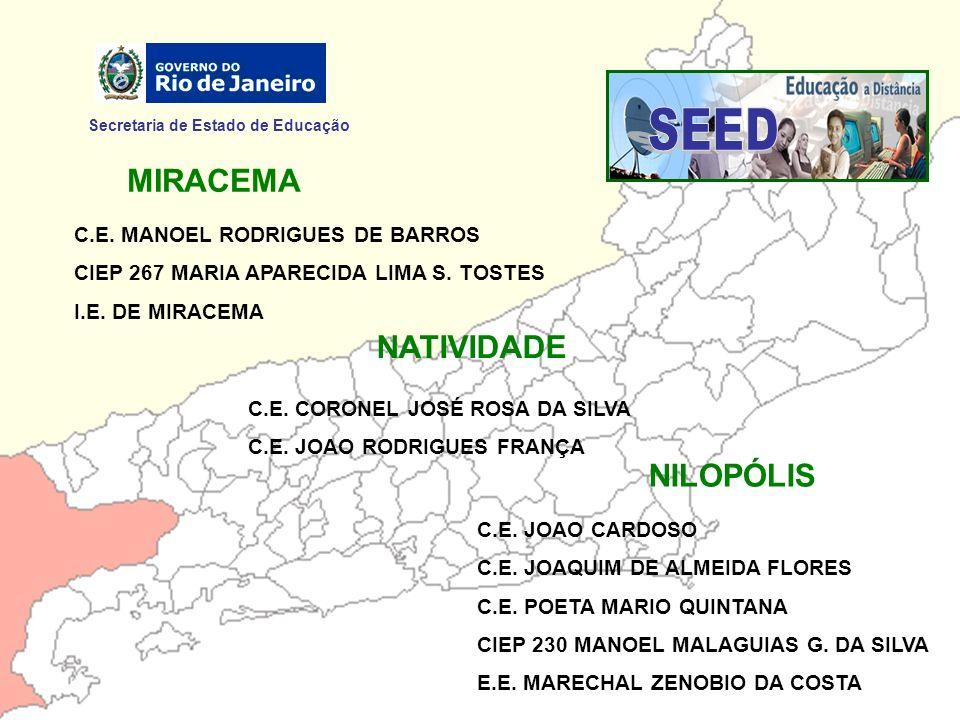 SEED MIRACEMA NATIVIDADE NILOPÓLIS Secretaria de Estado de Educação