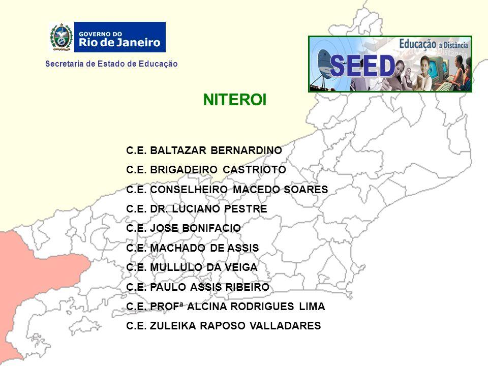 SEED NITEROI Secretaria de Estado de Educação C.E. BALTAZAR BERNARDINO